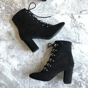 14th & Union black lace up ankle boots